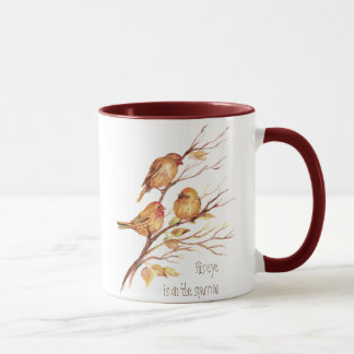 His eye is on the Sparrow, Inspiration, Bird Mug