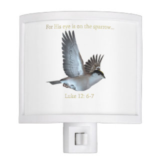 His Eye Is On The Sparrow night light