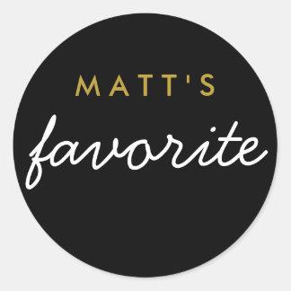 """""""His"""" Favorite Snack Round Sticker"""