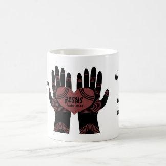 His hands are healing hands mug