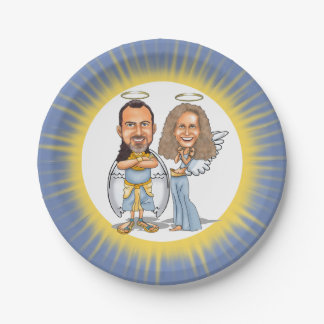 HIS & HER ANGELS paper plate