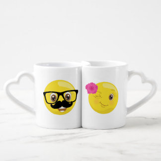 His & Her Emoji Coffee Mugs
