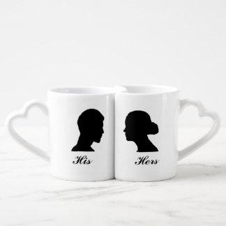 His/Her Nesting Mug Set Couple Mugs