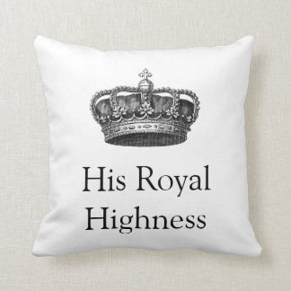 His & Hers crown cushion Throw Pillow