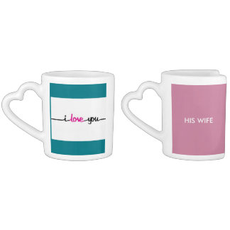 His & Hers Lovers Mug Set