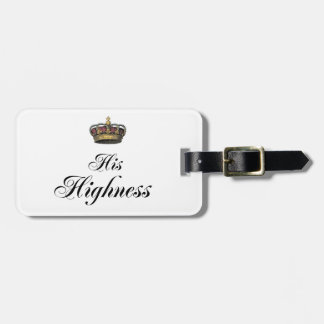His Highness (part of his and hers set) Bag Tag