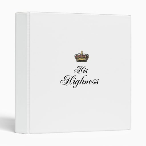His Highness (part of his and hers set) Vinyl Binder