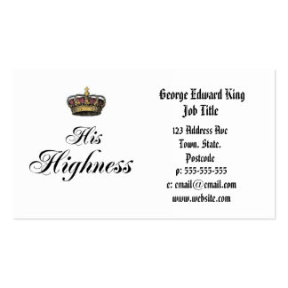 His Highness (part of his and hers set) Business Card