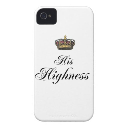 His Highness (part of his and hers set) Blackberry Case
