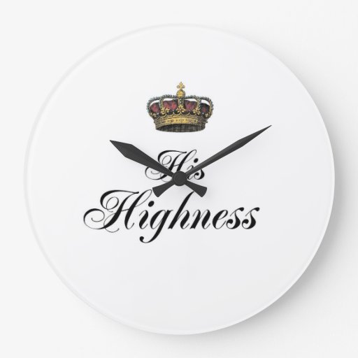 His Highness (part of his and hers set) Clock