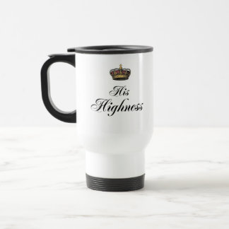 His Highness (part of his and hers set) Stainless Steel Travel Mug