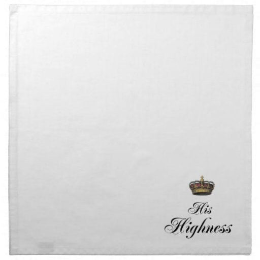 His Highness (part of his and hers set) Printed Napkins