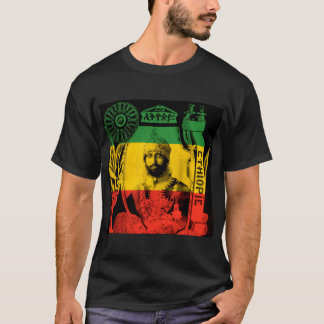 His Imperial Majesty Haile Selassie Black T-shirt