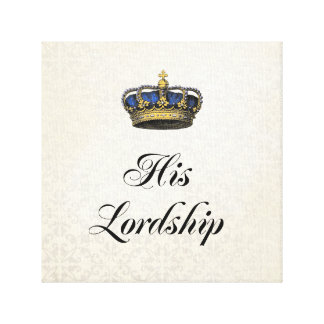 His Lordship Stretched Canvas Print