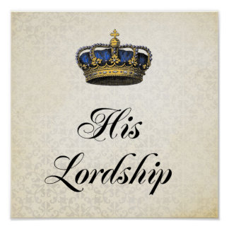His Lordship Poster