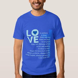 His Love Never Fails (Blue) T-shirts