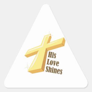 His Love Shines Sticker