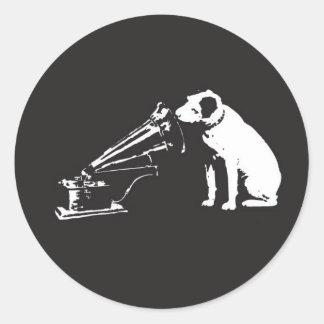 His Master´s Voice Classic Round Sticker