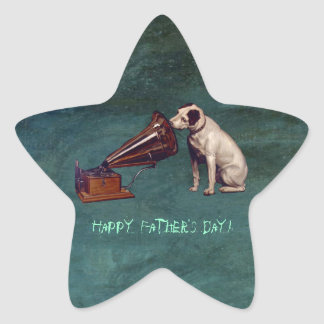 His Master's Voice Father's Day Star Sticker
