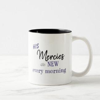 His Mercies are New Every Morning Mug