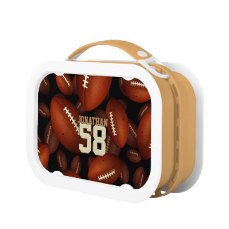 his name jersey number boys' footballs pattern lunch boxes