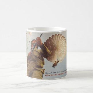 His needs come first; Lend_Propaganda Poster Coffee Mug