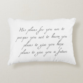 """""""His Plans for You"""" Minimal Accent Pillow"""