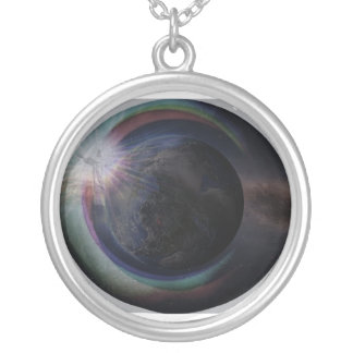 His Return Silver Plated Necklace