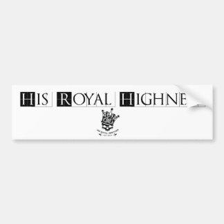 His Royal Highness Logo Bumper Sticker