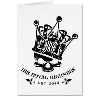 His Royal Highness Logo Greeting Card
