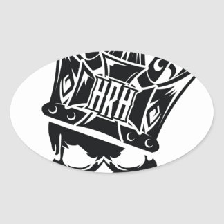 His Royal Highness Logo Oval Sticker