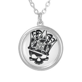 His Royal Highness Logo Round Pendant Necklace