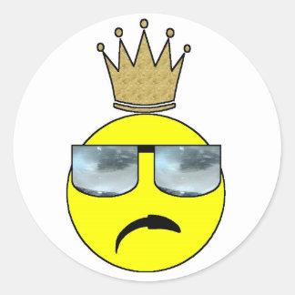 His Royal... Something Round Sticker