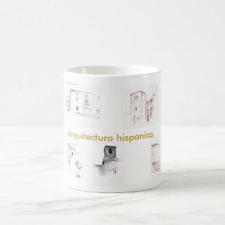 Hispanic architecture classic white coffee mug