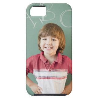 Hispanic boy standing underneath abcs on iPhone 5 case
