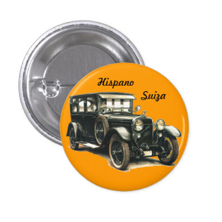 HISPANIC SWITZERLAND CLASSIC CAR 1 INCH ROUND BUTTON