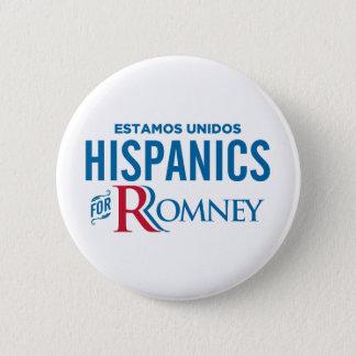 Hispanics for Romney 2 Inch Round Button