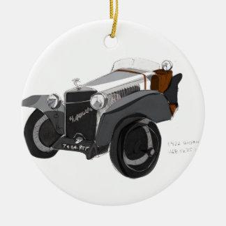 Hispano Suiza Closeup Ceramic Ornament