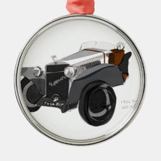 Hispano Suiza Closeup Metal Ornament