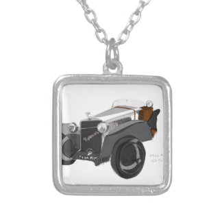 Hispano Suiza Closeup Silver Plated Necklace