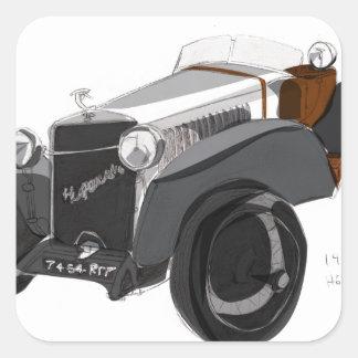 Hispano Suiza Closeup Square Sticker