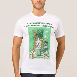 Hiss N Fitz Cat GREEN BEER T SHIRT Customize