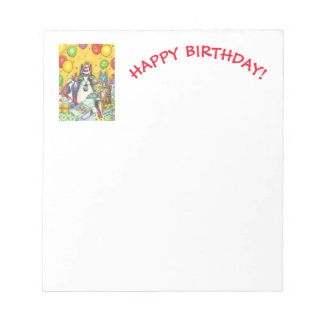 Hiss N' Fitz CAT HAPPY BIRTHDAY NOTEPAD