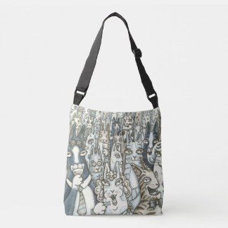 Hiss N' Fitz CAT PARTY CROSS BODY BAG