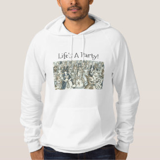 Hiss N' Fitz CAT PARTY FLEECE PULLOVER SWEATSHIRT