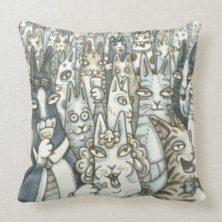Hiss N' Fitz CAT PARTY THROW PILLOW