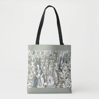 Hiss N' Fitz CAT PARTY TOTE BAG