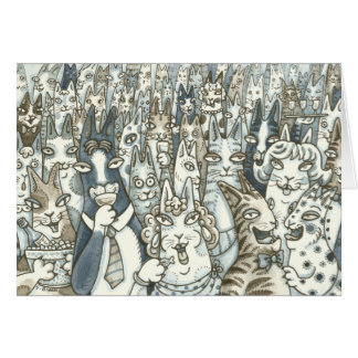 Hiss N' Fitz CATS ARE PARTY ANIMALS! GREETING CARD