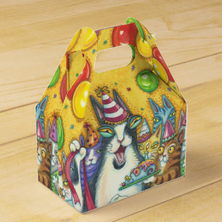 HISS N' FITZ CATS, BIRTHDAY PARTY, GABLE FAVOR BOX
