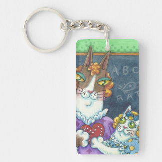Hiss N' Fitz Cats TEACHER'S PET KEYCHAIN Customize